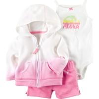 Carter's Kız Bebek 3'lü Şortlu Set-Collection4 127G353