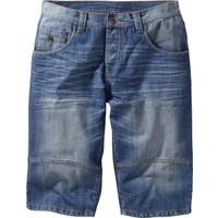 bonprix Mavi Uzun Jean Bermuda Loose Fit 34-54 Beden
