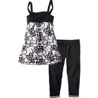 bonprix Siyah Elbise + 3/4 Paça Tayt (2 Parça) 34-54 Beden