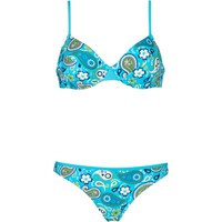Bpc Bonprix Collection Yeşil Balenli Bikini B Cup 34-54 Beden