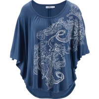 Bpc Bonprix Collection Mavi Yarasa Kollu Bluz 34-54 Beden