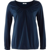Bpc Bonprix Collection Uzun Kollu Bluz Mavi