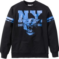 Bpc Bonprix Collection - Siyah Kolej Stili Baskılı Sweatshirt