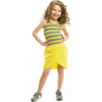 Mushi Katlı Sarı Elbise