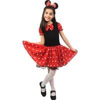 Modakids 23 Nisan Kız Çocuk Mickeyli Taşlı Elbise 037-Mk2313-002