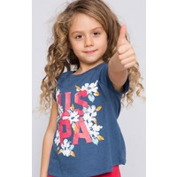 U.S. Polo Assn. Kız Çocuk Vala T-Shirt Lacivert