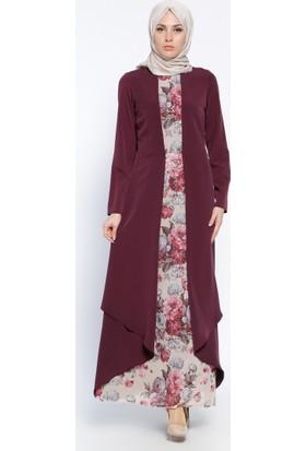 Kemerli Elbise - Saks - Sevilay Giyim