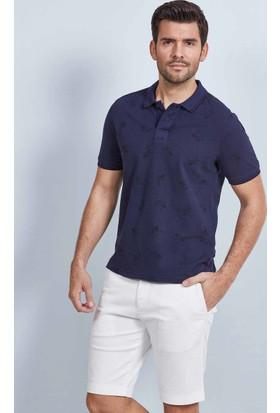 Hemington Lacivert Desenli Polo Yaka T-Shirt