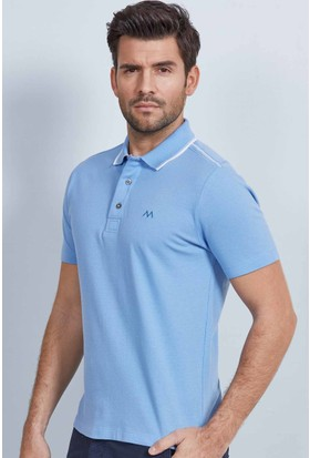 Hemington Polo Yaka Pamuk Açık Mavi T-Shirt