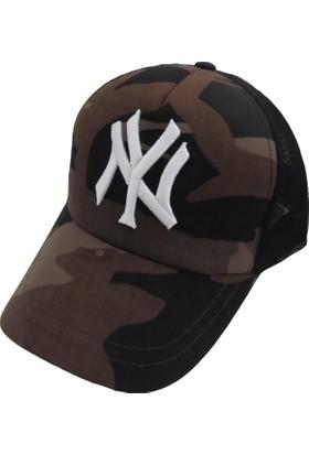 Outlet Çarşım Erkek Ny Kamuflaj Fileli Cap Şapka
