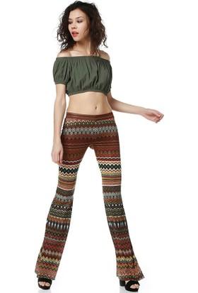 Bsl Fashion Kiremit Pantolon 9180