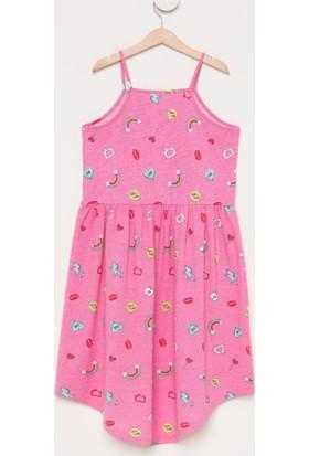 f683ee9b026c1 ... DeFacto Kız Çocuk Baskılı Sıfır Kol Elbise Pembe