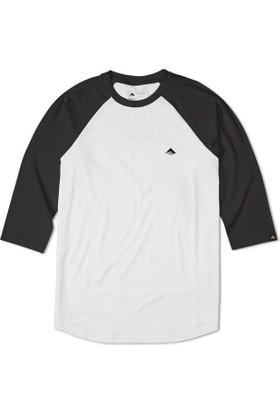 Emerica Triangle Raglan Black White Erkek T-Shirt