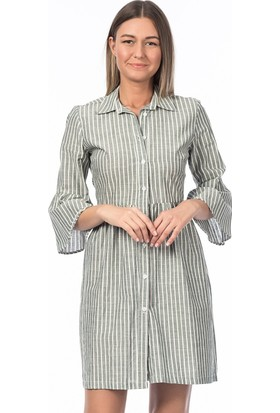 Bsl Fashion Yeşil Elbise 9263
