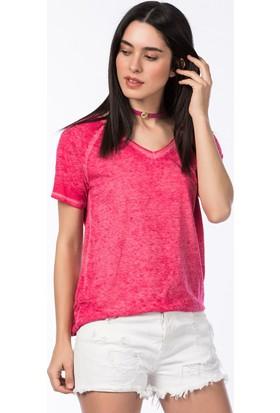 Bsl Fashion Fuşya T-Shirt 9269
