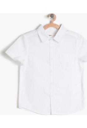 Koton Erkek Çocuk Cep Detaylı Gömlek Beyaz