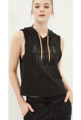 Koton Kadın Baskılı Sweatshirt Siyah