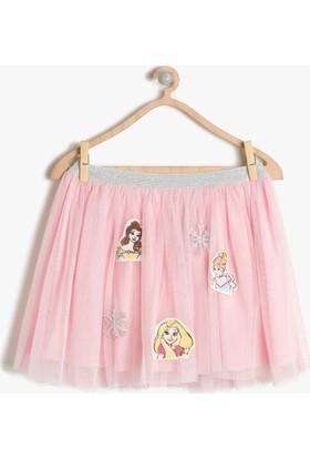 Koton Kız Çocuk Disney Baskılı Tütülü Etek Pembe