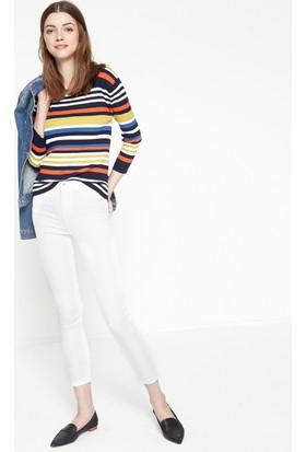 Koton Kadın Dar Kesim Pantolon Beyaz