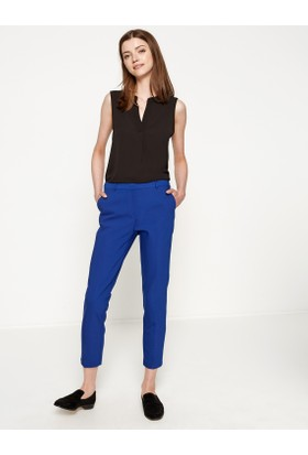 Koton Kadın Ceo Detaylı Pantolon Saks