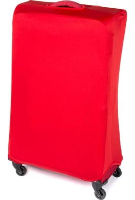 Vk TaSarım Valiz Kılıfı Büyük Boy Kırmızı Unisex Valiz Kılıfı