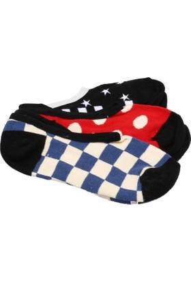 Vans Checks&Spotscanoodles 3Pk Çok Renkli Kadın Çorap