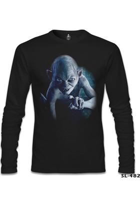 Lord T-Shirt Lord Of The Rings - Smeagol Siyah Erkek T-Shirt