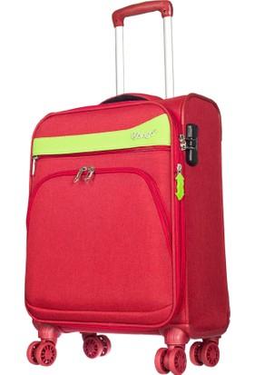 Verage Kumaş Kabin Boy Vrg16009 Valiz - S Kırmızı
