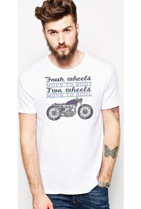 The Chalcedon Four Wheels Move to body Two Wheels Move to soul Erkek Tshirt