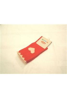 Yümese Anti Bakteriyel Kırmızı Kalpli Çorap