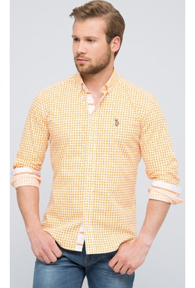 U.S. Polo Assn. Kanye Erkek Dokuma Gömlek