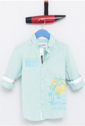 U.S. Polo Assn. Akron Erkek Çocuk Dokuma Gömlek