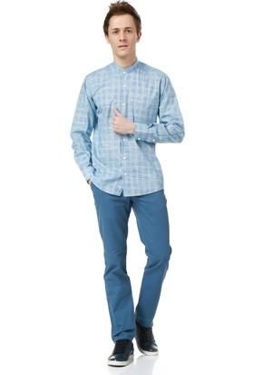 Dewberry G618 Erkek Gömlek Mavi