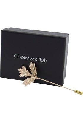 CoolMenClub Yaprak Figürlü Broş