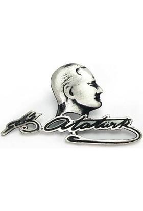 Osmanlı Gümüş Atatürk Gümüş Rozet