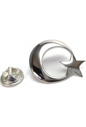 Osmanlı Gümüş Gümüş Ayyıldız Büyük Boy Rozet