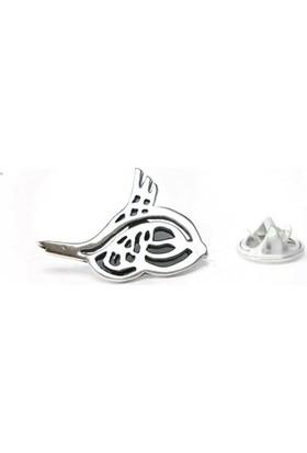 Osmanlı Gümüş Osmanlı Tuğrasi Gümüş Rozet