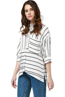 Bsl Fashion Çizgili Gömlek 9328