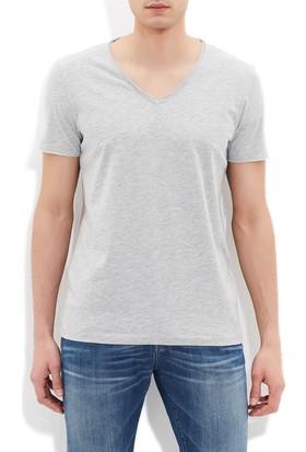 Mavi Erkek V Yaka Gri Basic T-Shirt