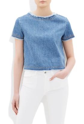 Mavi Kadın Cherly Nakışlı Jean Gömlek