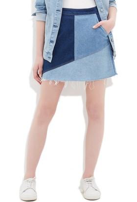 Mavi Kadın Monica Parçalı Gold Jean Etek