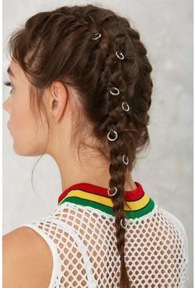 Modamarka-Shop Hair Ringa Saç Küpesi Silver 10 Adet