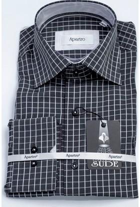Sude Triko Apartro Erkek Klasik Uzun Kollu Gömlek Ap30875