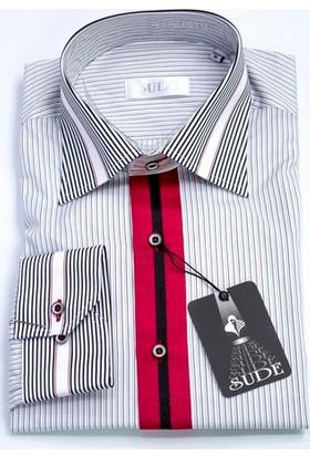 Sude Triko Erkek Klasik Uzun Kollu Gömlek 31035-1