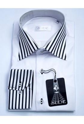 Sude Triko Erkek Klasik Uzun Kollu Gömlek 31035-2