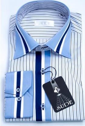 Sude Triko Erkek Klasik Uzun Kollu Gömlek 31035-3