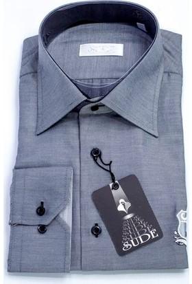 Sude Triko Erkek Klasik Uzun Kollu Gömlek 31825