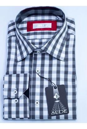 Sude Triko Erkek Klasik Uzun Kollu Gömlek Sg31965-1