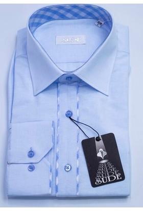 Sude Triko Erkek Klasik Uzun Kollu Gömlek Sg32285