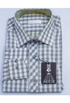 Sude Triko Erkek Klasik Uzun Kollu Kareli Gömlek Sg32280